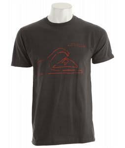 Quiksilver Tune Up Slim T-Shirt Dark Charcoal