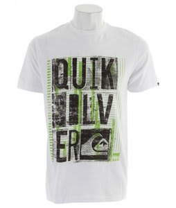 Quiksilver Typo T-Shirt White