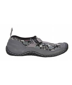 Rafters Crosswater Low Water Shoes Black Hibiscus