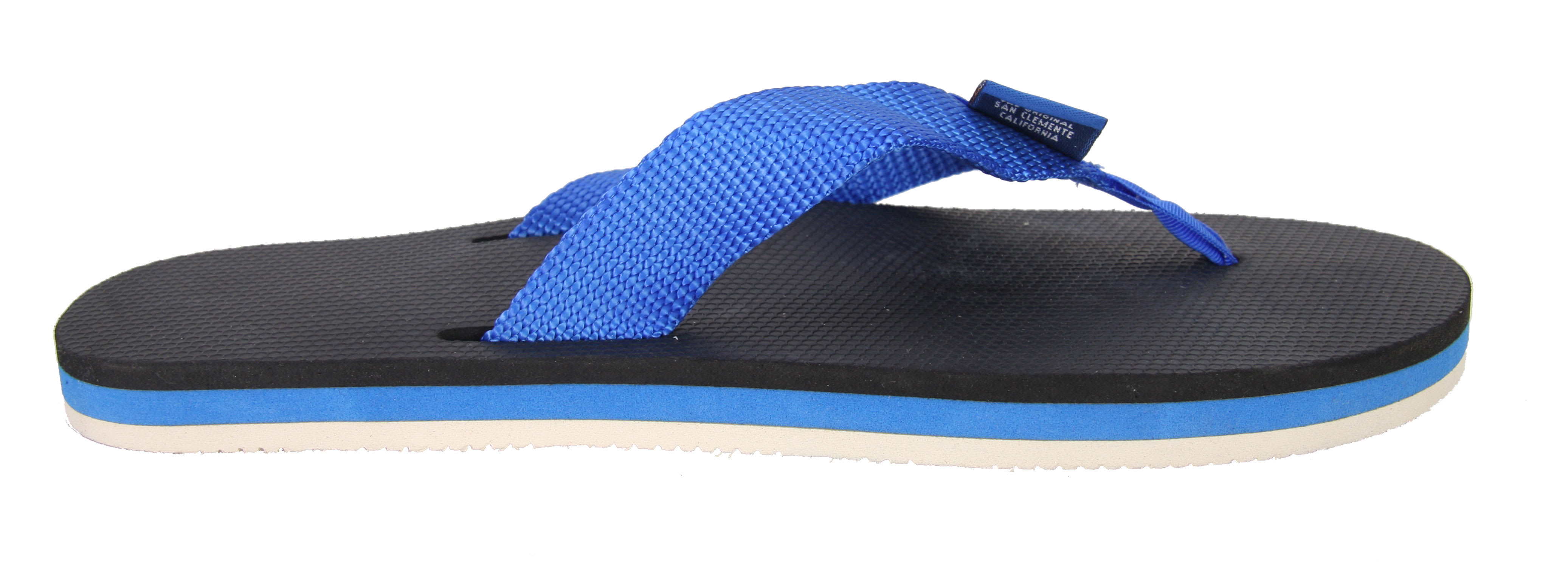 Shop for Rainbow Classic Sandals Blue St/White So - Women's