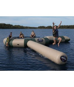 Rave Aqua Jump Northwoods Water Trampoline 20 w/ Launch And Log