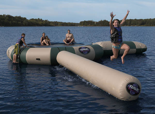 Shop for Rave Aqua Jump Northwoods Water Trampoline 15 w/ Launch And Log
