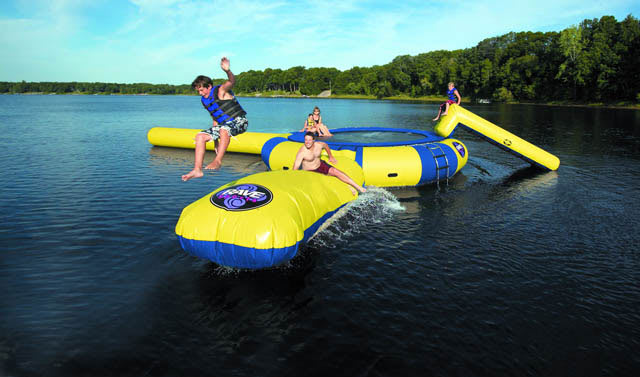 Shop for Rave Aqua Jump Water Trampoline 15 w/ Launch And Log