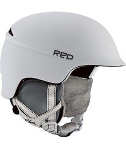 Red Aletta Snowboard Helmet White