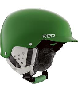 Red Asylum Snowboard Helmet Green