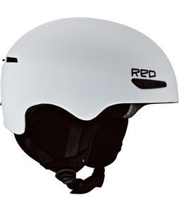 Red Avid Snowboard Helmet White