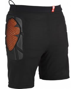 Red Base Layer Short Padded Shorts Black
