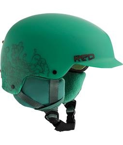 Red Defy Snowboard Helmet Green