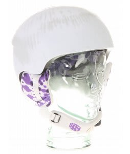 Red Hi Fi Snowboard Helmet White Tie Dye