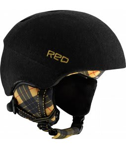 Red Hi-Fi Snowboard Helmet Black Plaid