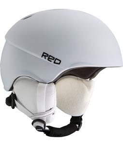 Red Hi-Fi Snowboard Helmet White Matte