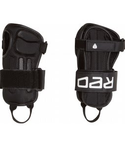 Red Impact Wrist Guard Protective Gear Black