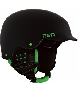 Red Mutiny Snowboard Helmet Black/Green