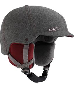 Red Mutiny Snowboard Helmet Gray Fabric