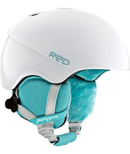 Red Paragon Snowboard Helmet Matte Pearl White