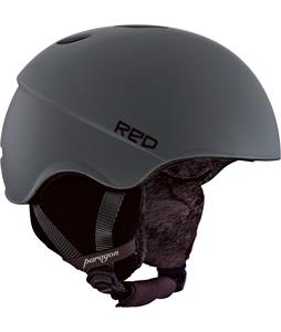 Red Paragon Snowboard Helmet Grey