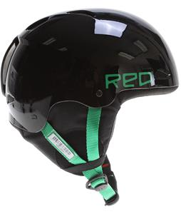 Red Progression Snowboard Helmet Black