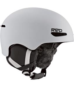 Red Pure Snowboard Helmet White