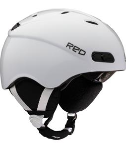 Red Skycap Classic Snowboard Helmet White
