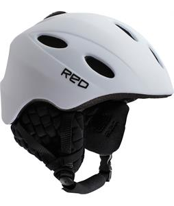 Red Tantrum Classic Snowboard Helmet White