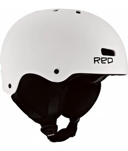 Red Trace Grom Snowboard Helmet White