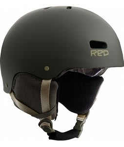 Red Trace Snowboard Helmet Trench Green