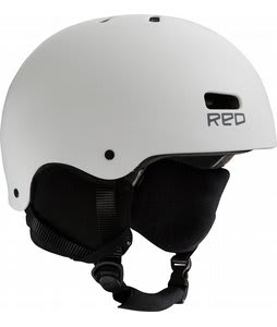 Red Trace Snowboard Helmet White