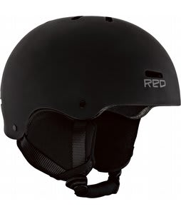 Red Trace Snowboard Helmet Black