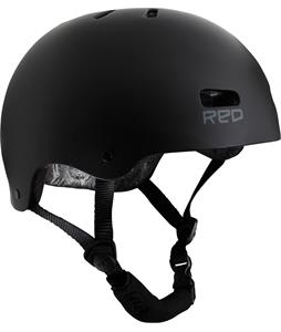 Red Trace Snowboard Helmet Raw Black