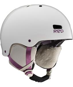 Red Trace Snowboard Helmet White Pearl