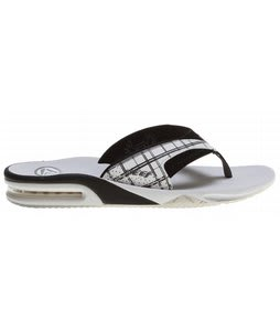 Reef Fanning Prints Sandals White/Black/Plaid