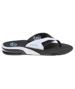 Reef Fanning Sandals Black/White/Aqua