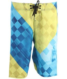 Reef Miss Checkers Boardshorts Blue