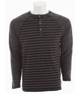 Reef Mister Stripe Henley Black