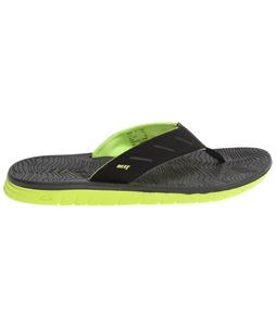 Reef Rodeo Flip Sandals Black/Lime Green