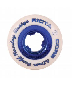 Ricta Chrome Core Rowley Skateboard Wheels White/Dark Blue 52mm 4pk