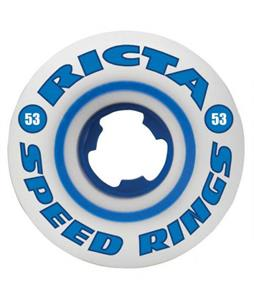Ricta Speedrings 81b Skateboard Wheels White/Blue 53mm