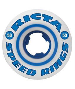 Ricta Speedrings 81b Skateboard Wheels White/Blue 53mm