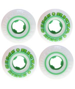 Ricta Speedrings Skateboard Wheels White/Green 52mm