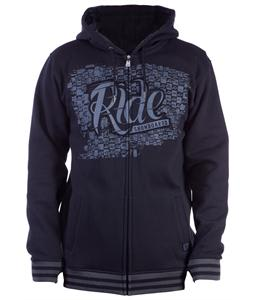 Ride Applique Full Zip Hoodie Black