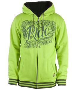 Ride Applique Full Zip Hoodie Slime