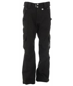 Ride Attica Vented Snowboard Pants Black Limone Diamond Stripe