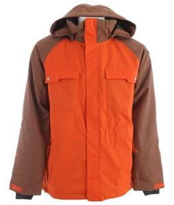 Ride Ballard Insulated Snowboard Jacket Dark Orange