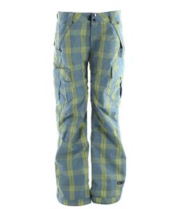 Ride Beacon Boyfriend Fit Snowboard Pants Faded Plaid