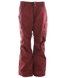 Ride Beacon Snowboard Pants Maroon Twill