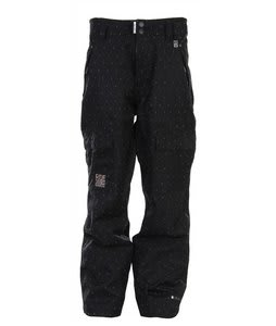 Ride Belltown Snowboard Pants Black Diamond Stripe