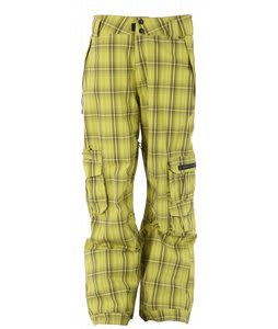 Ride Belltown Snowboard Pants Waylon Plaid Pale Gold