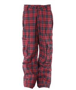 Ride Belltown Snowboard Pants Waylon Plaid Red
