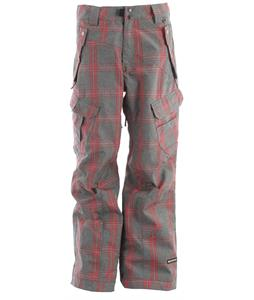 Ride Belltown Snowboard Pants Faded Plaid Red