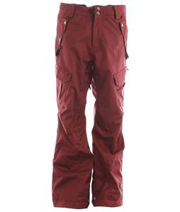 Ride Belltown Snowboard Pants Maroon Twill